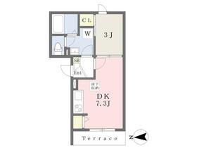 鹿手袋6丁目D-room新築計画 105号室の間取り