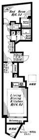 ビバリーホームズ代官山 102号室 102号室の間取り