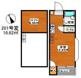 マキシム吉塚駅前 201号室の間取り