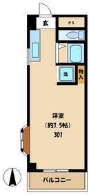 ユーシン武蔵小杉 301号室の間取り