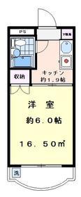 ハイタウン駒沢公園No.2 210号室の間取り