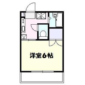 パークサイド駒沢A 202号室の間取り