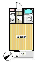 カスティル渋谷 302号室の間取り
