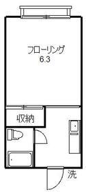 中目黒フロント 205号室の間取り