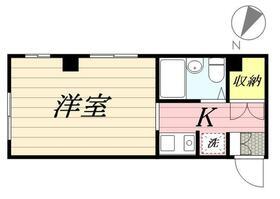 上田ハウス 0201号室の間取り