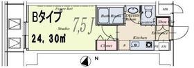 HF駒沢公園レジデンスTOWER 0222号室の間取り
