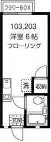 レジデンス駒沢 103号室の間取り