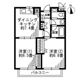 SOCIETY KAKINOKIZAKA WEST STAGE 102号室の間取り
