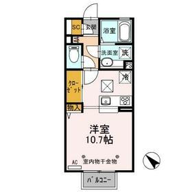 D-room思川ヴィオレ D 107号室の間取り