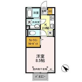 D-room思川ヴィオレ D 202号室の間取り