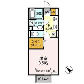D-room思川マロン G 203号室の間取り