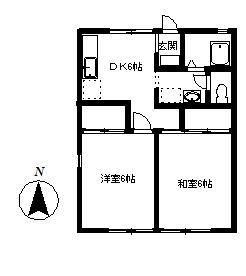 第2コーポ貫井 101号室の間取り
