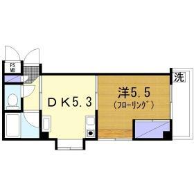 杉崎ビル 305号室の間取り