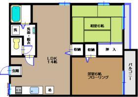 ハイクレスト津田沼 102号室の間取り