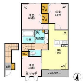 (仮)D-room新治 203号室の間取り