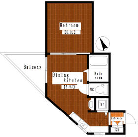 緑園都市リルターラックスマンション壱番館 205 205号室の間取り