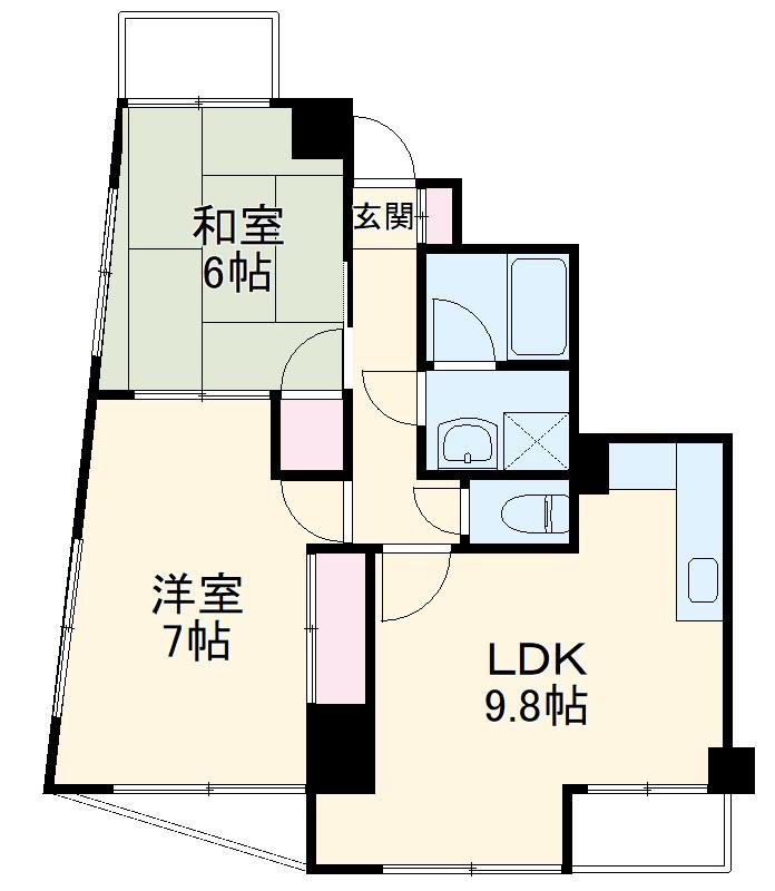 新田第9ビル 202号室の間取り