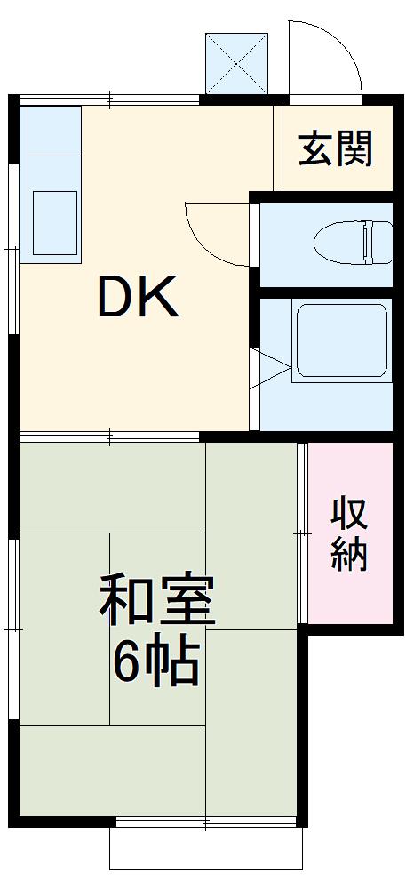 コーポKT A棟 A101号室の間取り