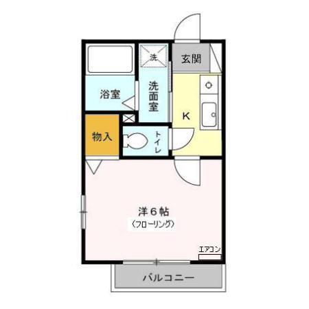 OAK HOUSE 105号室の間取り