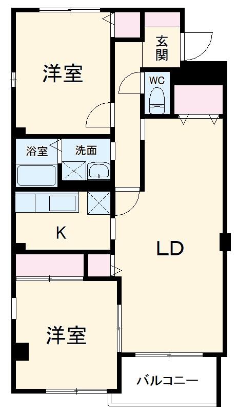 レジデンス・ツジムラⅢ 101号室の間取り