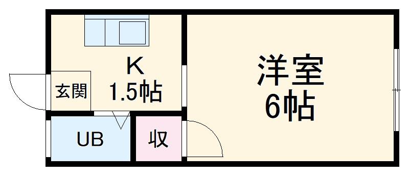 堀田ビル 305号室の間取り