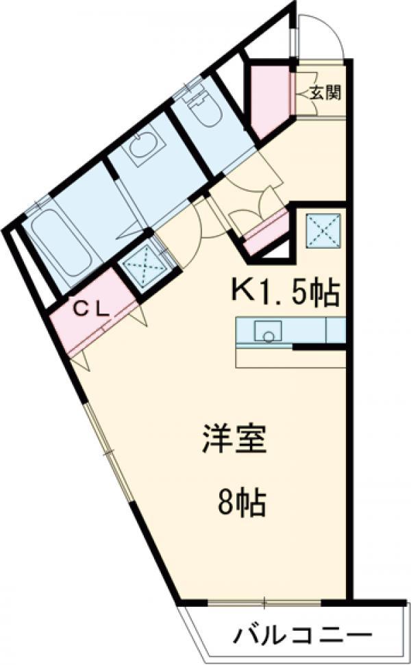 ARCS KOMAZAWA 301号室の間取り