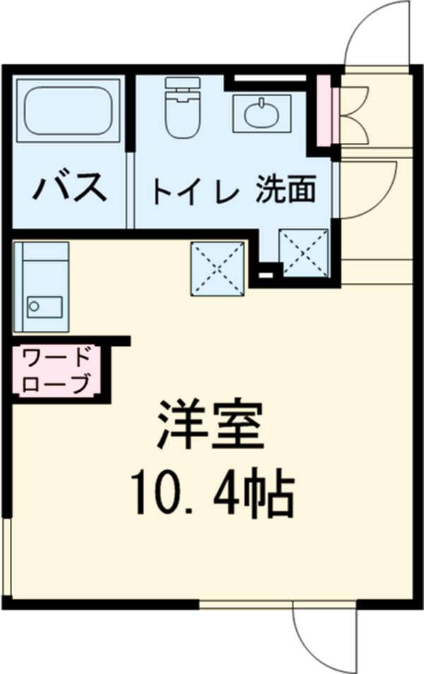 アレーロ駒沢大学 103号室の間取り