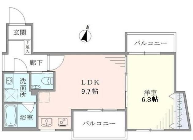 グランデュオ駒沢Ⅱ 104号室の間取り
