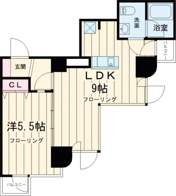 GRAND駒沢公園 303号室の間取り
