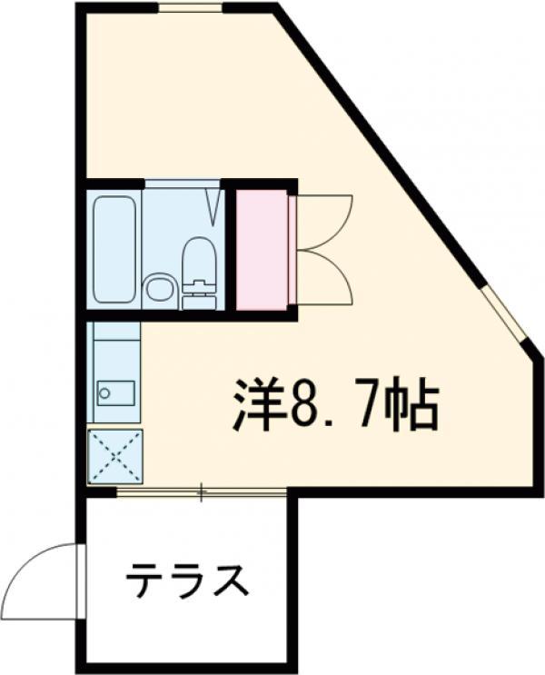 ゲストハウス 2F号室の間取り