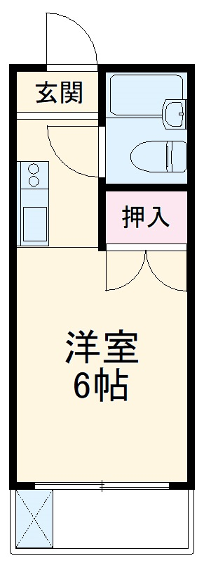 コーポサカエ3 00201号室の間取り