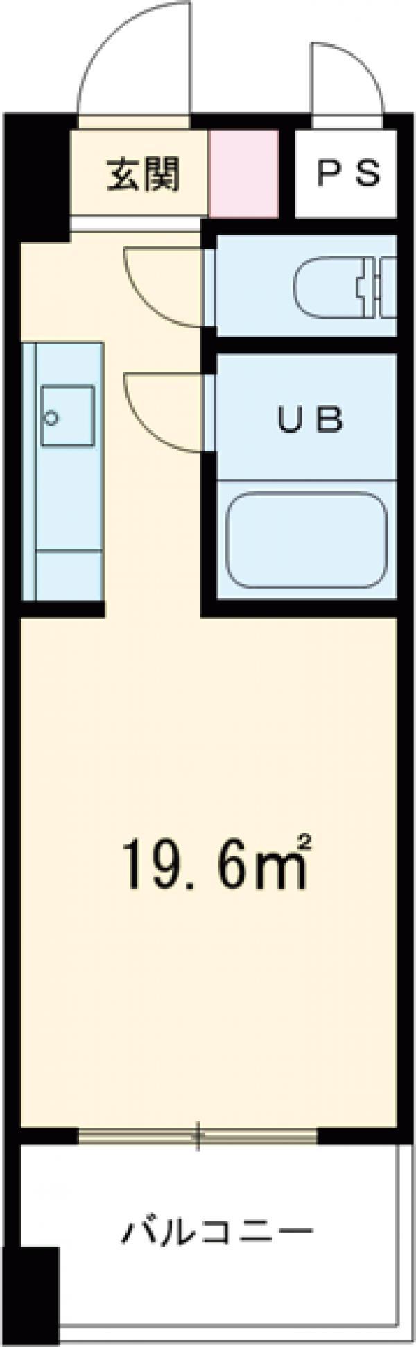 永井ビル 804号室の間取り