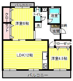 原田マンション 303号室の間取り