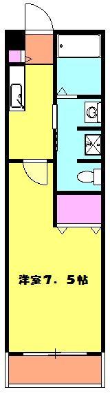 アンプルール フェール ClefⅡ 105号室の間取り