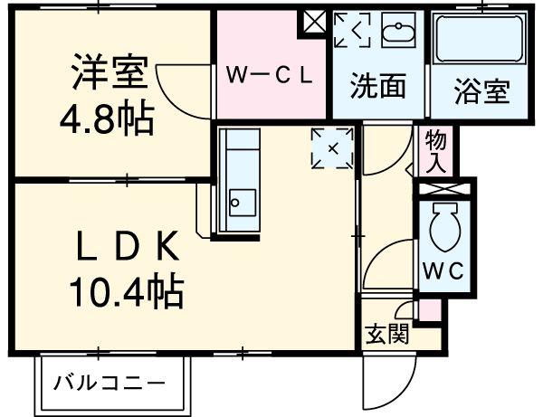 アドシールセンタービレッジⅣ 103号室の間取り