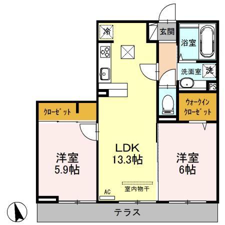 (仮)三橋6丁目新築D-room 303号室の間取り