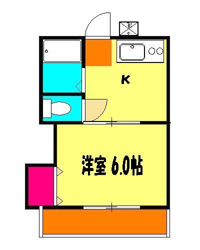 第10丸三マンション 203号室の間取り
