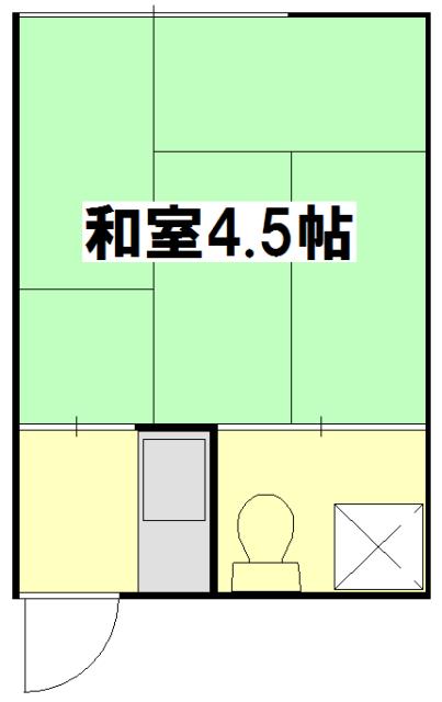 橋本荘 210号室の間取り