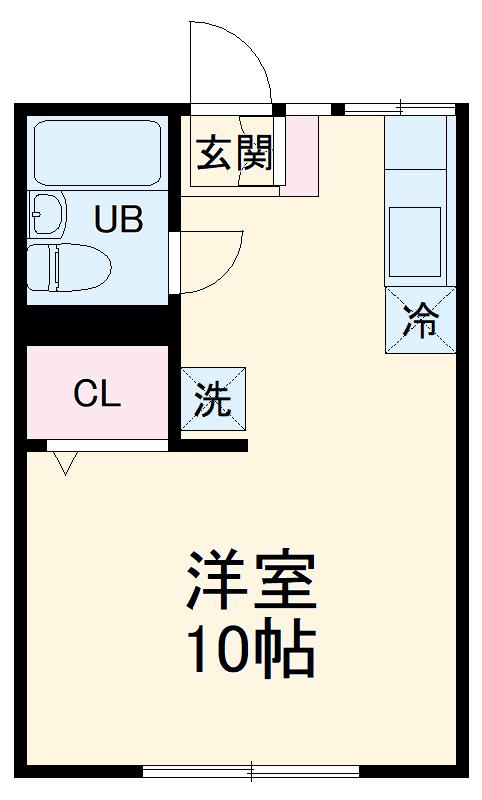 エステートピア鶴山堂 103号室の間取り