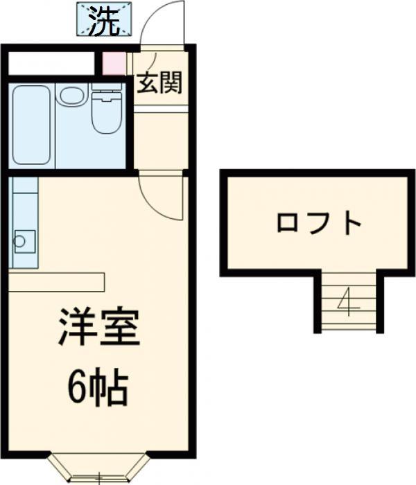 ベルピア姫宮第1 205号室の間取り