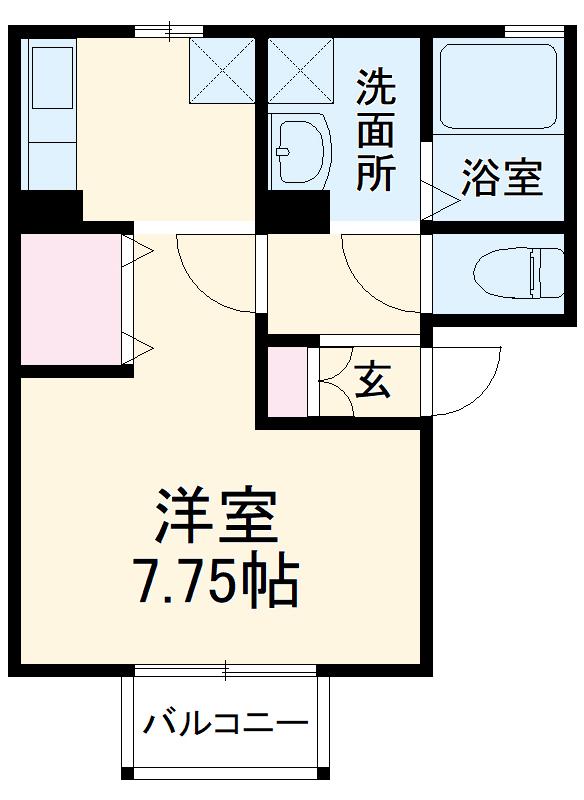 メゾンHOKUSHIN Ⅱ 203号室の間取り