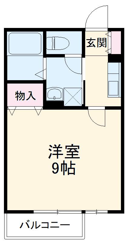 メゾンHOKUSHIN 105号室の間取り