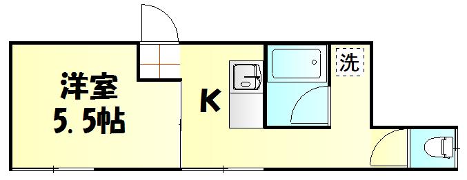 国分アパート C202号室の間取り