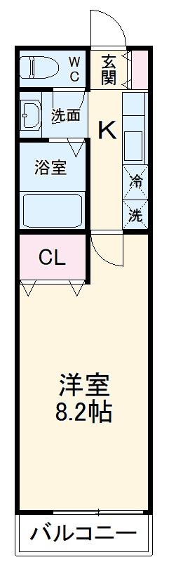 第12アーベルハイツ 103号室の間取り