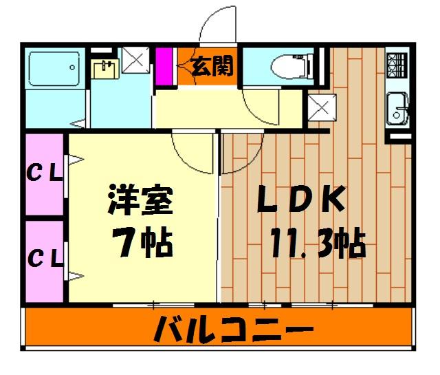シャルマンK・S 102号室の間取り