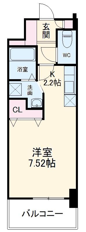 PRIM ROSE・M 壱番館 205号室の間取り