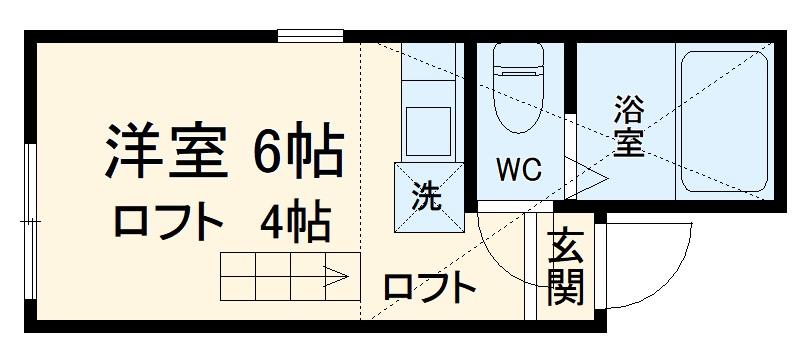 ユナイト宮崎台プッチーニの社 203号室の間取り