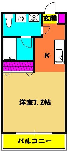 ルロワ津田沼 202号室の間取り