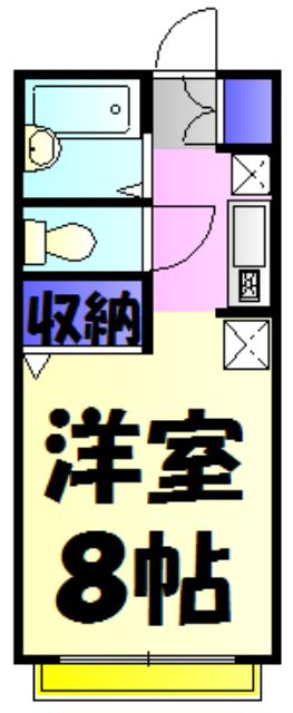 グリシーヌ藤崎Ⅱ 202号室の間取り