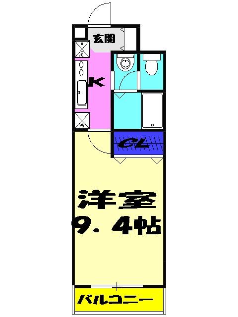 イマヴリューマンション 306号室の間取り